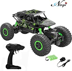 Negi 1:18 Rechargeable Rock Crawler 4WD 2.4 Ghz 4x4 Rally Car RC Monster Truck Kids Play Toys (Green)