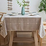 Aitsite Tovaglia Antimacchia Tovaglie Rettangolari Impermeabile Tablecloth Tovaglia da Pranzo Linen Cotton Nappa Tovaglia 140