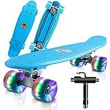 Cutemelo Skateboards 55cm Mini Cruiser Skateboard Completo retrò per Ragazzo, Ragazza, Giovani, Adulti, Principianti con Ruot