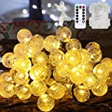 Globe LED String Lights Fairy Lights Battery with USB Plug Operated, Auting 60 LEDs 36ft Waterproof Outdoor Indoor Christmas