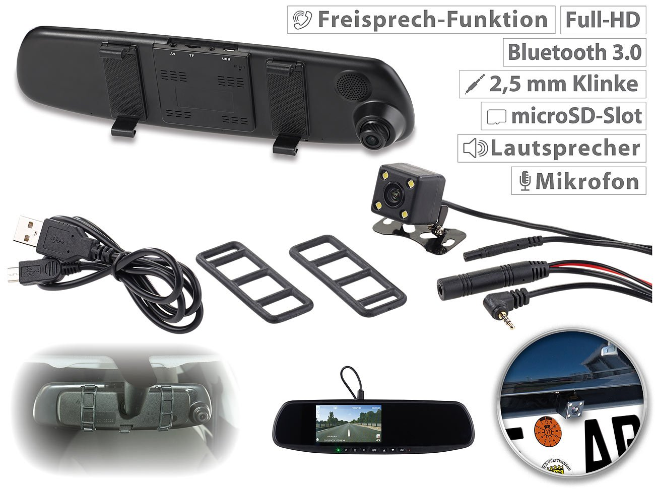 NavGear-Rckfahrkamera-Spiegel-Full-HD-Rckspiegel-Dashcam-mit-Rckfahr-Kamera-114-cm-Display-FSE-Rckfahrkamera-Rckspiegel