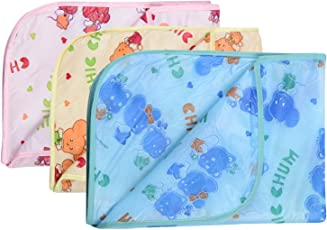 Dreambaby Waterproof Plastic Nappy Changing Sheets (Multicolour, 0-3 Months, Dream baby_18) - Set of 3