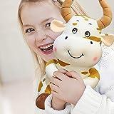 Giocattolo Farcito Creativo Della Bambola Della Mucca Del Fumetto Da 11,8 Pollici Per I Bambini, Giallo