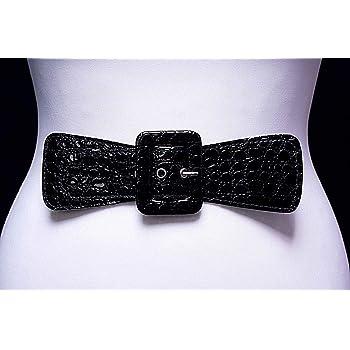 Craft Bags Waist belts Black Buckle Strap Faux Crocodile Leather PVC