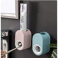 2 Pièces Distributeur Automatique de Dentifrice Mains Libres Mural, Presse-Dentifrice Automatique, Ensemble D…