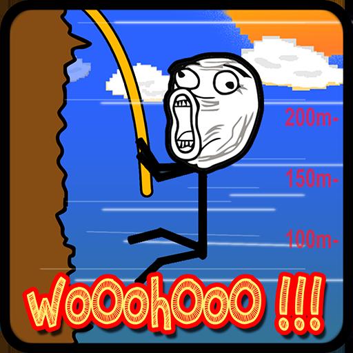 rappelling-stickman-rock-climbing