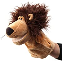 VIBGYOR PRODUCTS Plush Animal Lion Hand Puppets Cartoon Role Play Toy Educational Plush Dolls Glove
