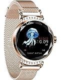 Smart Watch Bracelet pour Femme, Fulltime® Sport Montre Connectée Pression artérielle moniteur Cardiofréquencemètre (Or rose)
