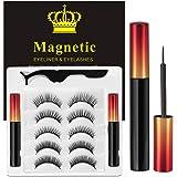 Ciglia Magnetiche Con Eyeliner Magnetico Kit, 5 Paia Di Ciglia Finte Naturali E Di Lunga Durata, Ciglia Finte Magnetiche Riut