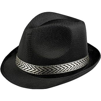 Cappello borsalino nero per adulto  Amazon.it  Giochi e giocattoli 5dae3a19edf8