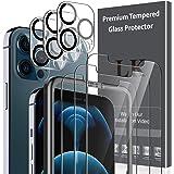 LK 6 Pack Vetro Temperato Compatibile con iPhone 12 PRO Max (6.7 Pollici), Contenere 3 Pack Pellicola Protettiva e 3 Pack Vet