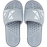 Unisex Leichte Badeschlappen Verstellbare Sandalen mit Offenen Zehen Bequeme Sommer Badelatschen für Freizeit Sport Fitness 3