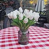 Awtlife 24 piezas de flores artificiales de tulipán de látex con tacto real para hacer ramos de boda, fiesta de novia, baby s