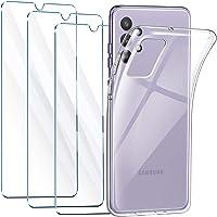 Leathlux Cover Compatibile con Samsung Galaxy A32 4G con 3 Pellicola Vetro Temperato, Morbido Silicone Protettivo Bumper…