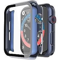 Misxi Hard Hülle mit Glas Displayschutz Kompatibel mit Apple Watch Series 6 / SE / Serie 5 / Series 4 40mm, 2-Stück, 1…