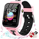 Smooce smartwatch kind Telefoon,kids smartwatch Muziekspeler met Sd-kaart 7 Puzzel Games Call SOS Camera Alarm Recorder Calcu