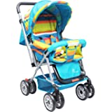 R for Rabbit Lollipop Lite Colorful Stroller | Pram with Easy Fold for Newborn Baby | Kids of 0 to 3 Years (Multicolor)