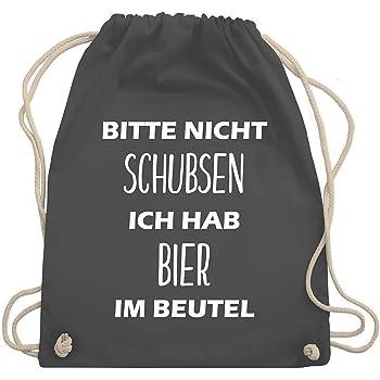 Turnbeutel - Bitte nicht schubsen ich hab Bier im Beutel - Turnbeutel & Gym Bag