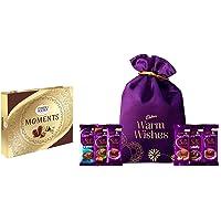 Ferrero Rocher Moments,(Box of 24 Units), 139.2 g & Cadbury Silk Special Potli, 343g