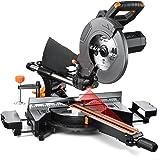 Troncatrice, 2000W Troncatrice Radiale con Laser Integrato, Doppia Velocità di Giri 3200/4500 rpm, 3 Dischi Ø 255mm, Troncatr