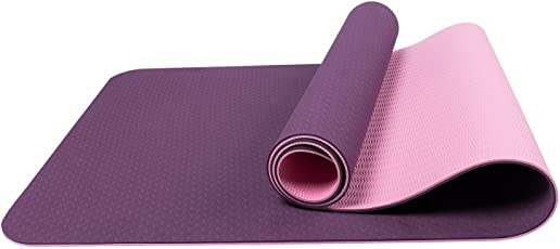 "Craftsfy Premium TPE Yoga Mat with Carrying Bag and Strap -Dual Layer-Reversible- Non Slip - Anti-Tear- Eco Friendly - TPE Material Exercise Workouts Fitness Mats for Men & Women - 72""x24""- 6mm"