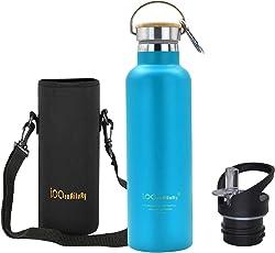 iParaAiluRy Trinkflasche Edelstahl BPA Freie Thermosflaschen 500/600/750/1000ml