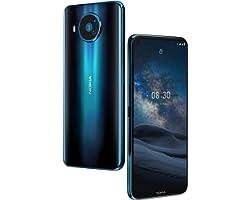 "Nokia 8.3 Smartphone 5G Dual Sim, Display 6.81"" FHD+, 64GB, 6GB RAM, Quadrupla Camera, Android 10, Batteria 4500mAh, Polar Ni"