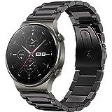 SPGUARD Correa Compatible con Correa Huawei Watch GT 2e Huawei Watch GT2 46mm Correa,22mm Pulsera de Repuesto deMetal de Acer