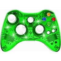 PAWHITS Manette Xbox 360 sans Fil Gamepad Contrôleur de Jeu avec Double Vibration (Vert)