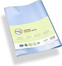perfect line 25 Heft-Hüllen Din-A4 Transparent, Heft-Umschlag Flexibel & abwischbar, Buch-Schoner mit Einband, Schutz-Hülle für Arbeits- & Schulhefte