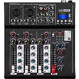 Depusheng HT4 Professional 4 canaux USB Jack mélangeur audio portable Bluetooth Live Studio Audio DJ Console de mixage sonore