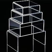 4 Pièces Risers d'Affichage en Acrylique Transparent, Montages d'Étalage de Risers d'Affichage de Bijoux Outils de…