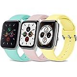 Wanme 3 Pack Compatibile con Cinturino Apple Watch Cinturino 38mm 40mm 42mm 44mm, Silicone Morbido Cinturini Edizione Sportiv