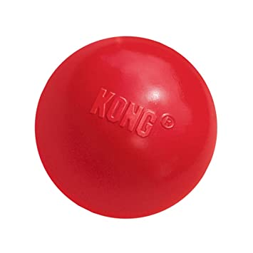 ball toys. kong ball with hole dog toy, medium/large, red toys