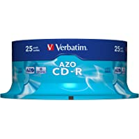 Verbatim CD-R 25Pk 48x 80Minute Super AZO Spindle