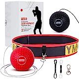 YMX BOXING Reflex Ball da Boxe - Pallina per Migliorare i Riflessi con Fascia Elastica - Gioco per l'Allenamento dei Tempi di