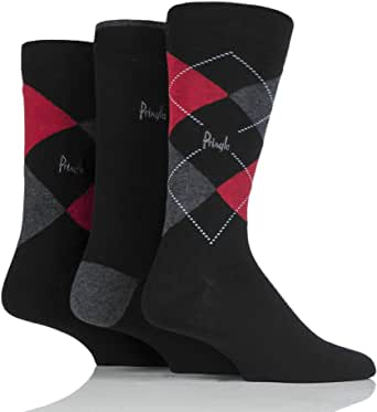 Pringle Mens 12-14 Socks for Larger Feet Pack of 3