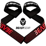 Cinghie sollevamento pesi Beast Gear – Cinghie Professionali con Imbottitura Avanzata ed Impugnature di Gel Flessibile