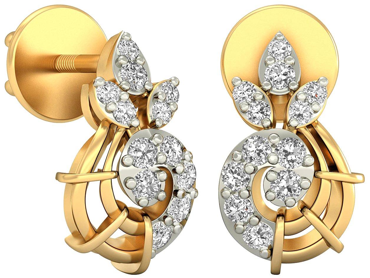 PC Jeweller The Agnetha 18KT Yellow Gold & Diamond Earring