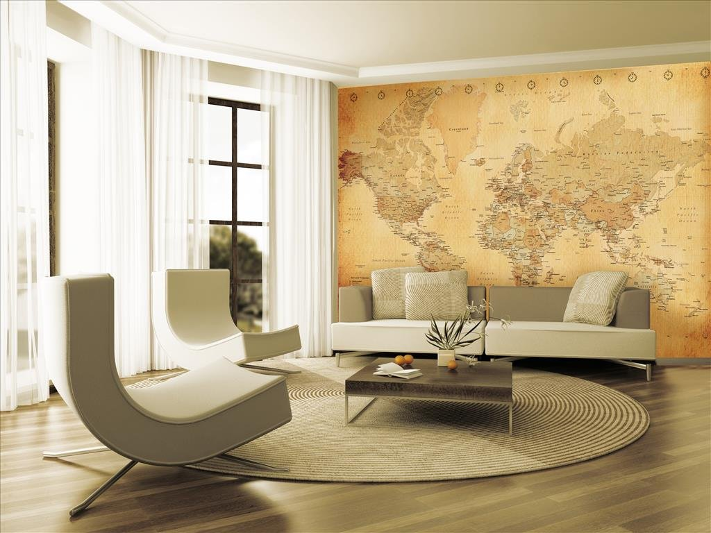 1wall vintage old map wall mural wood beige 315 x 232 m 1wall vintage old map wall mural wood beige 315 x 232 m amazon kitchen home gumiabroncs Images
