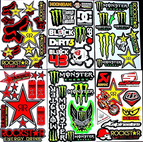 6-sheets-of-motocross-decal-stickers-xtt-monster-energy-drink-rockstar-red-bull-fox