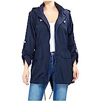MyShoeStore Ladies Women Rain Mac Raincoat Showerproof Fishtail Cagoule Kagool Kagoul KAG Festival Parka Jacket Hooded…