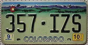 Usa Nummernschild Colorado Autokennzeichen Rocky Mountains Grafik Us Motiv Blechschild Auto