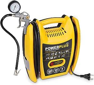 Varo Powx1705 Elektrischer Druckluft Kompressor Tragbar 1 100 Watt 1 5 Ps Max 8 Bar Inkl Zubehör Anschluß 230 Volt Baumarkt