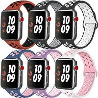 ATUP Compatible con para Apple Watch Correa de 38mm 40mm 42mm 44mm, Correa de Reloj de Repuesto de Silicona Suave...