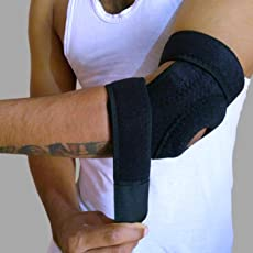 Cloud Hut Adjustable Elbow Support Brace Guard Band for Elbow Pain Relief, Sports, and Gym Accessories for Men and Women (Free Size, Black)