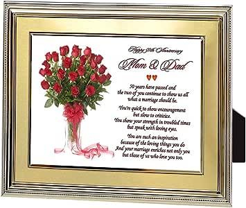 Poetry Gifts Papa Et Maman 50ème Anniversaire Cadeau Les