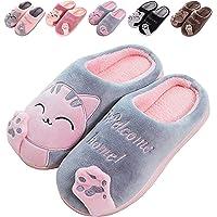Pantofole Donna Uomo Carino Cartone Animato Confortevole Caldo Casa Scarpe di Cotone Invernale