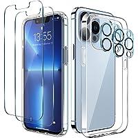 LK Coque Compatible avec iPhone 13 Pro Max 6.7 Pouces, 4 Pièces- 2 Verre Trempé Protection écran & 2 Caméra Arrière…