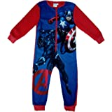 MARVEL Avengers Boys Fleece Onesie All in One Pyjamas Kids Avengers Sleepsuit Onezee 3-10 Years